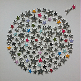 Paper stars - affordable paper art designed by Cissy Cook