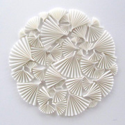 White discus, circles and shapres - affordable paper art designed by Cissy Cook