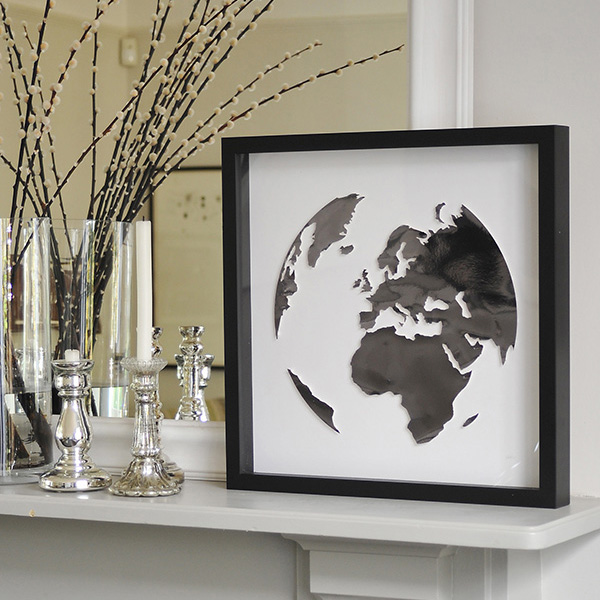 Paper world globe - affordable paper art designed by Cissy Cook